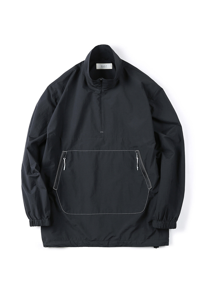Shirter셔터 ZIP-UP ANORAK SHIRT BLACK