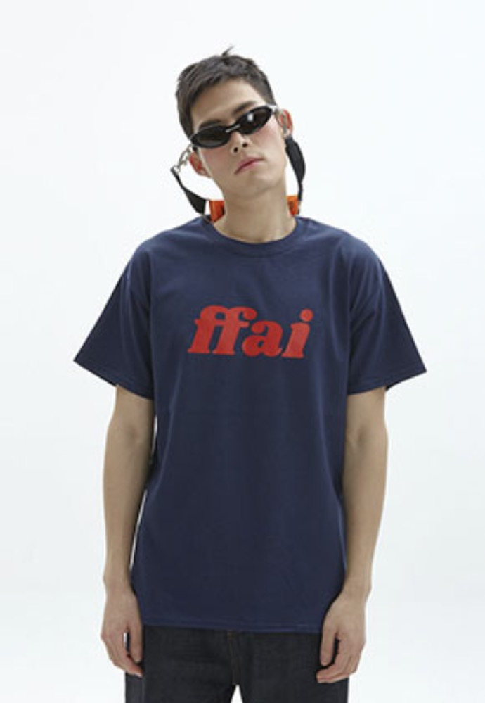 FFAI파이 ffai 2OSS BIG LOGO T-SHIRT_NAVY/RED