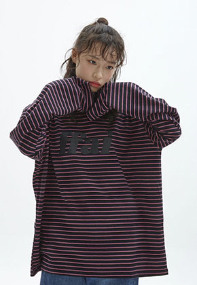 FFAI파이 BIG LOGO STRIPE T-SHIRT_BLACK