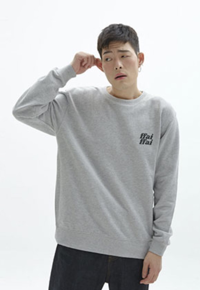FFAI파이 ffai CUT LOGO SWEAT-SHIRT_MELANGE GRAY