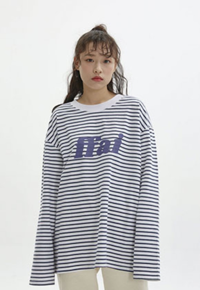 FFAI파이 BIG LOGO STRIPE T-SHIRT_WHITE