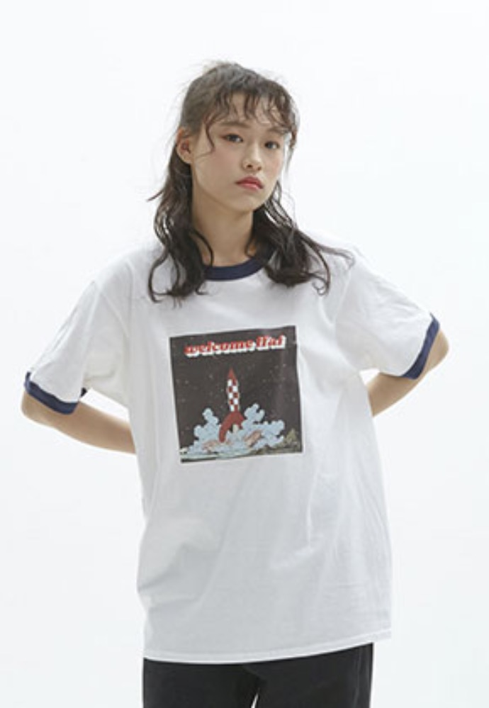 FFAI파이 ffai MIX ROCKET GRAPHIC T-SHIRT_WHITE
