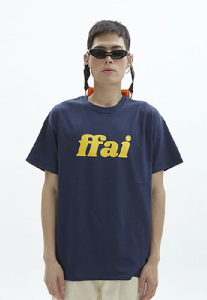 FFAI파이 ffai 2OSS BIG LOGO T-SHIRT_NAVY/YELLOW