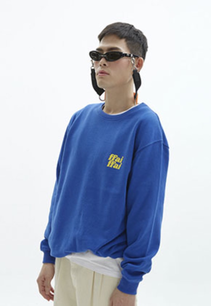 FFAI파이 ffai CUT LOGO SWEAT-SHIRT_BLUE