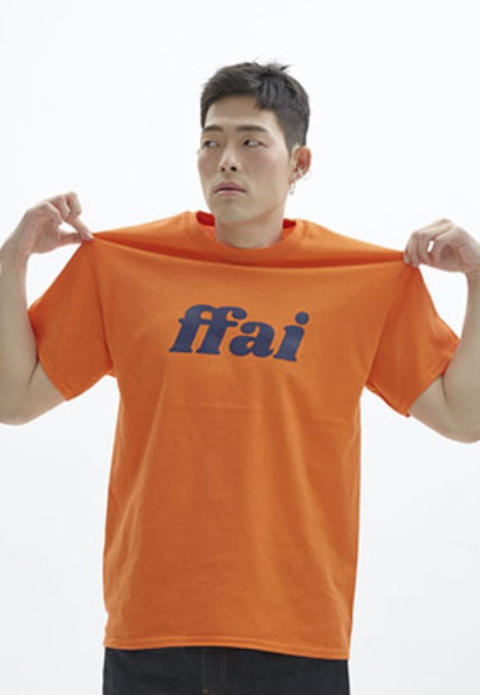 FFAI파이 ffai 2OSS BIG LOGO T-SHIRT_ORANGE