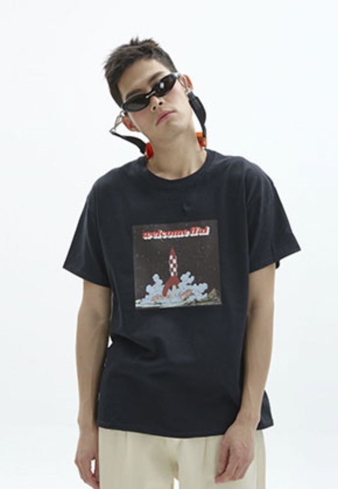 FFAI파이 ffai ROCKET GRAPHIC T-SHIRT_BLACK