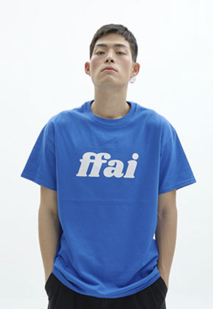 FFAI파이 ffai 2OSS BIG LOGO T-SHIRT_BLUE