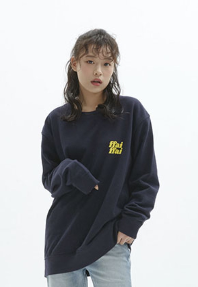 FFAI파이 ffai CUT LOGO SWEAT-SHIRT_NAVY
