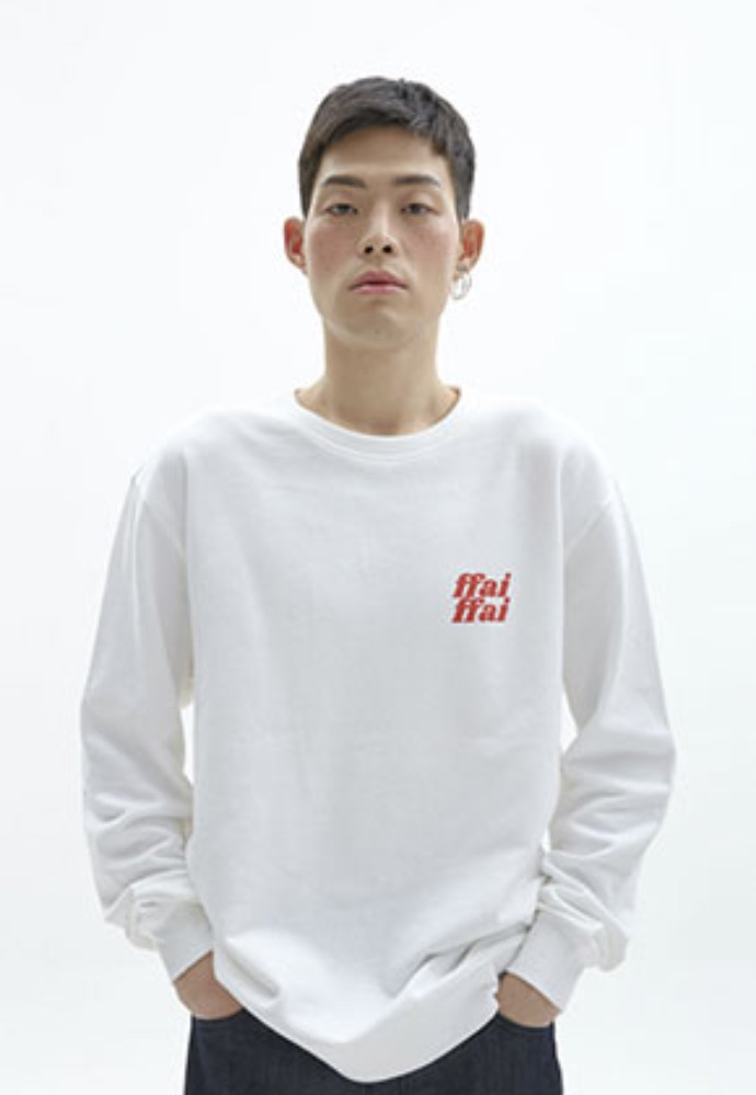 FFAI파이 ffai CUT LOGO SWEAT-SHIRT_WHITE