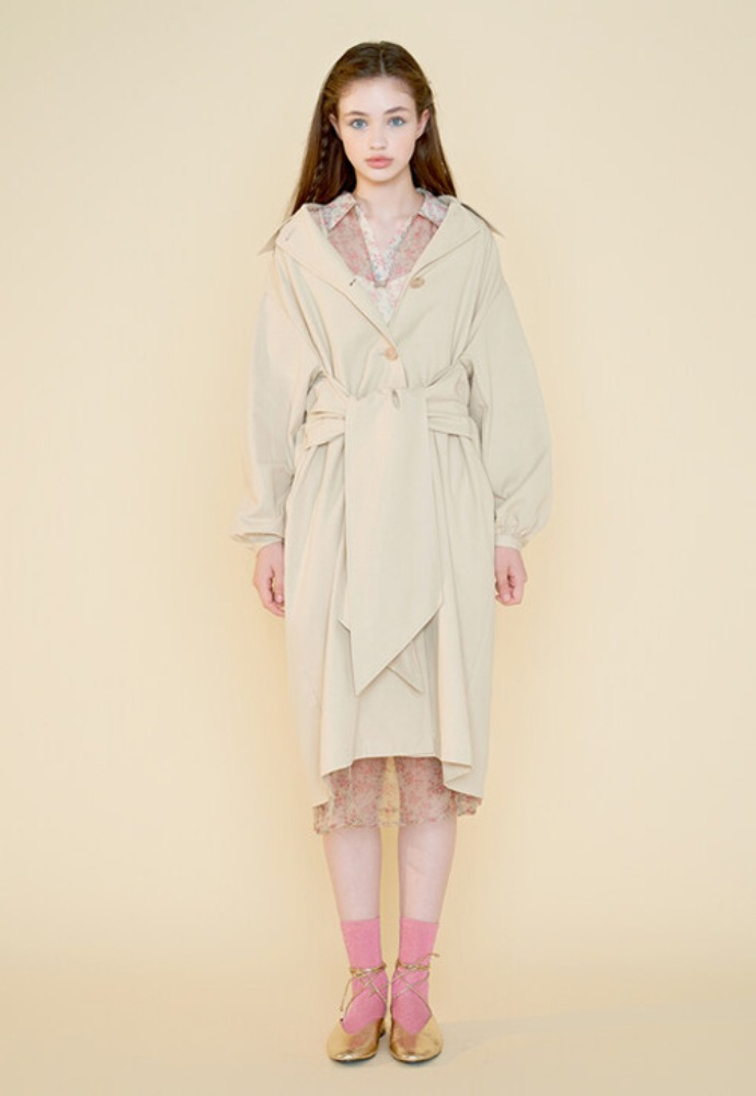 Margarin Fingers마가린핑거스 BOW TRENCH COAT