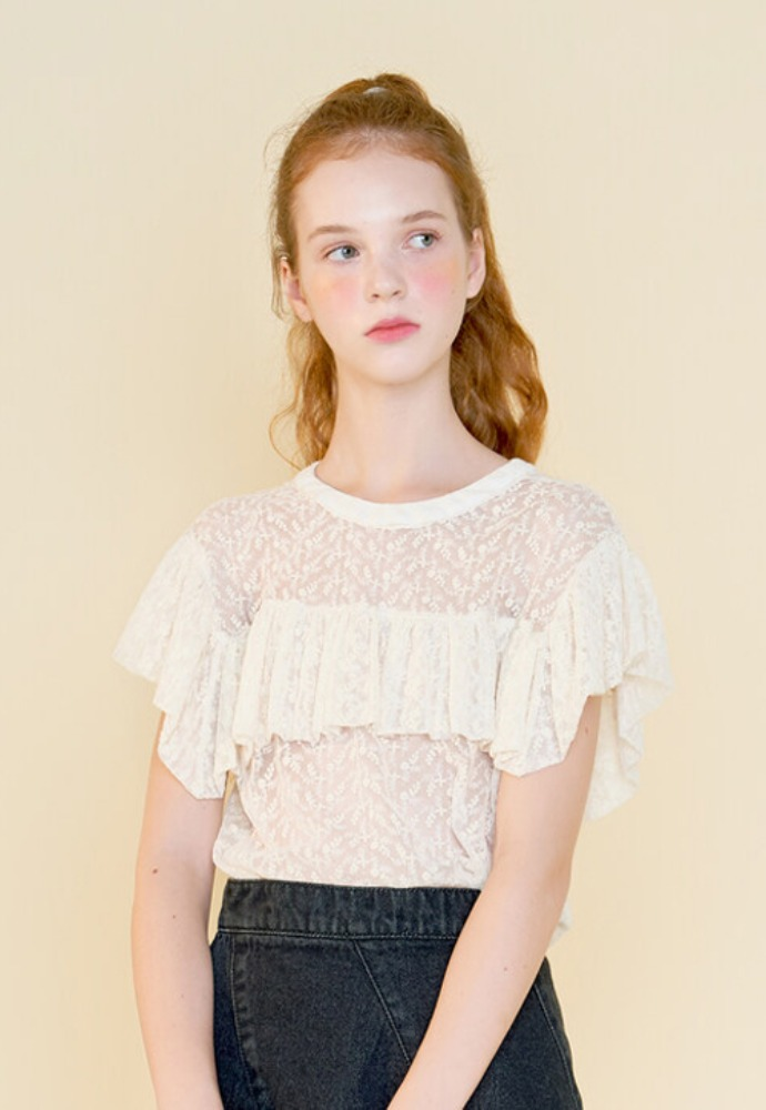 Margarin Fingers마가린핑거스 LACE WING BLOUSE