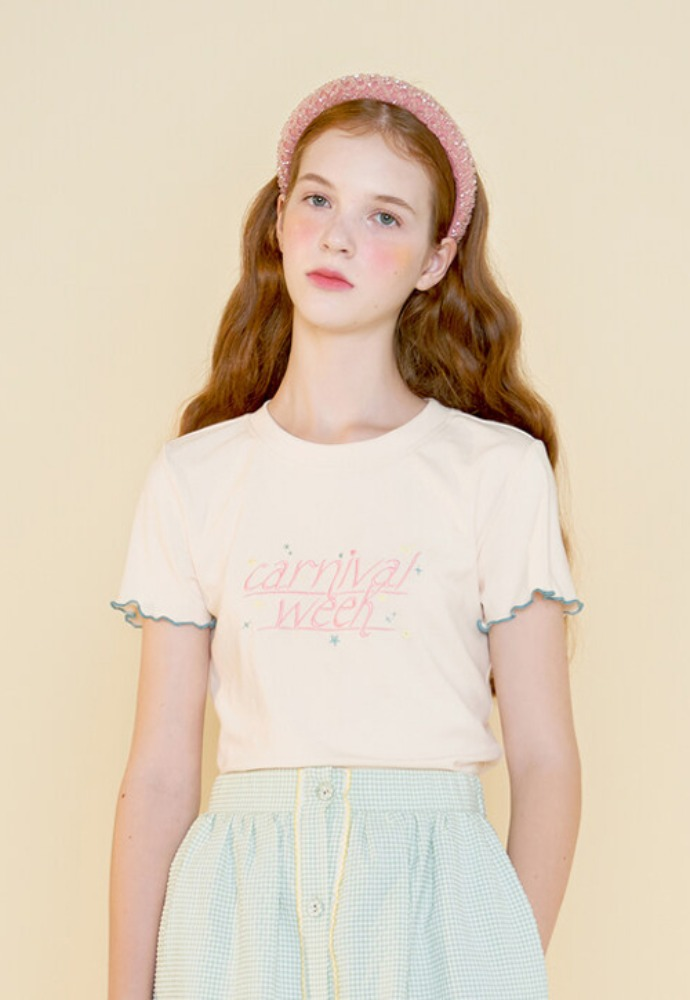 Margarin Fingers마가린핑거스 CARNIVAL WEEK T SHIRT WHITE