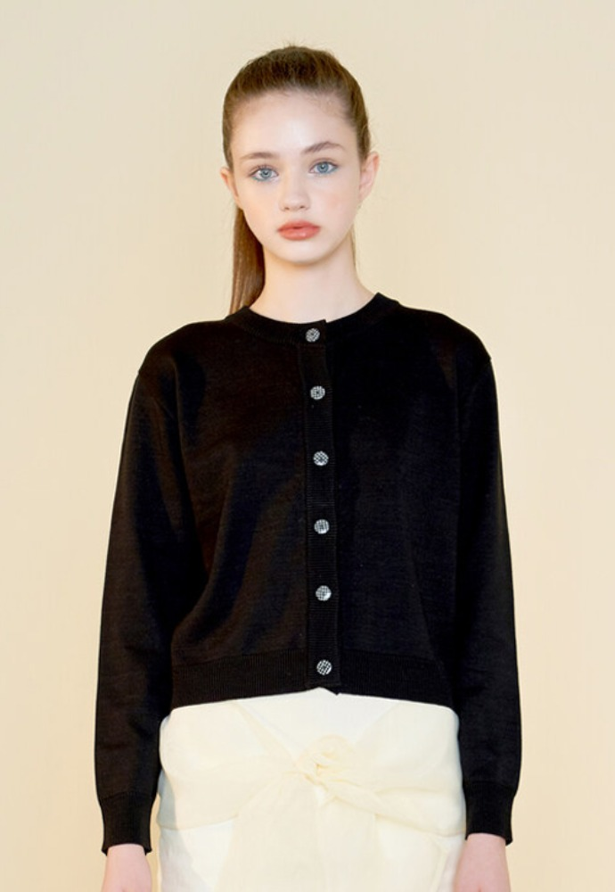 Margarin Fingers마가린핑거스 FANFARE CARDIGAN BLACK