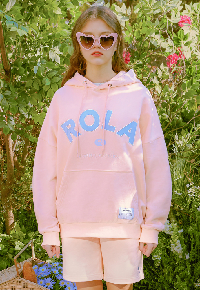 ROLAROLA로라로라 (HD-20101) ROLA SIGNATURE HOOD T-SHIRT PINK
