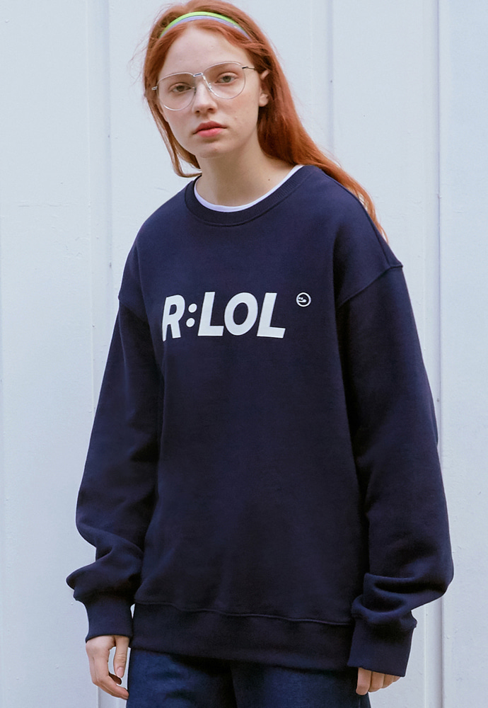 ROLAROLA로라로라 (TS-19701) R:LOL BASIC SWEATSHIRT NAVY