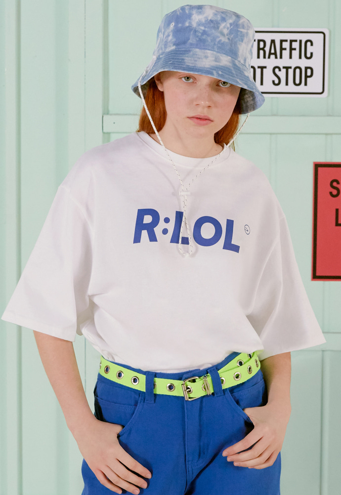 ROLAROLA로라로라 (TS-19303) R:LOL BASIC T-SHIRT WHITE