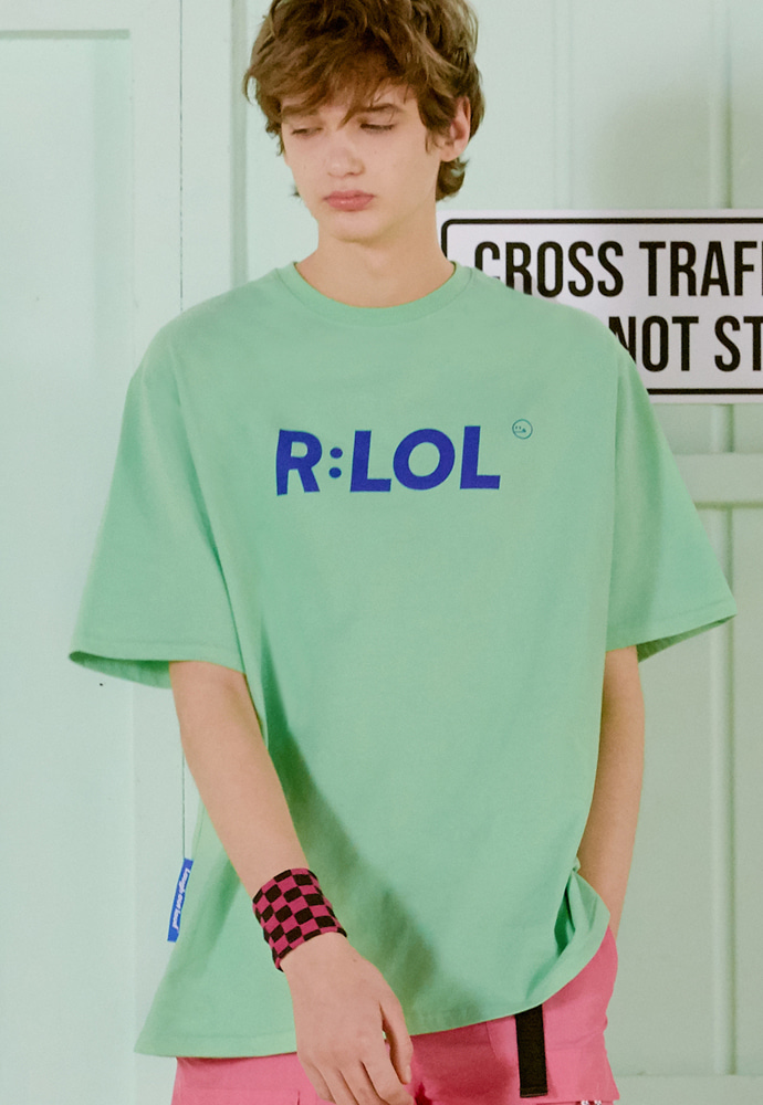 ROLAROLA로라로라 (TS-19303) R:LOL BASIC T-SHIRT LIGHT GREEN