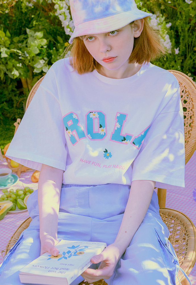 ROLAROLA로라로라 (TS-20301) FLOWER ROLA T-SHIRT WHITE
