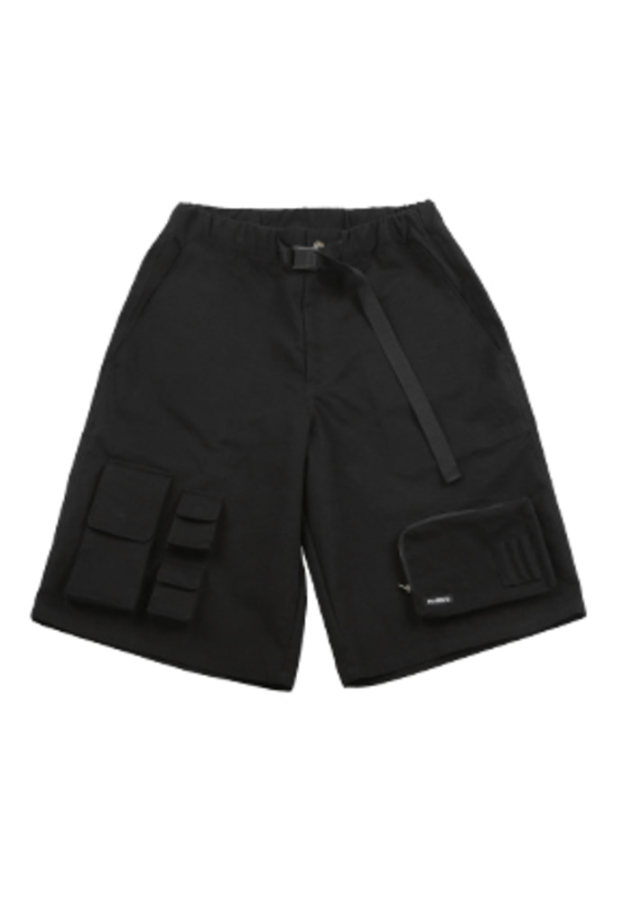 AJO BY AJO아조바이아조 Fisherman Shorts [Black]