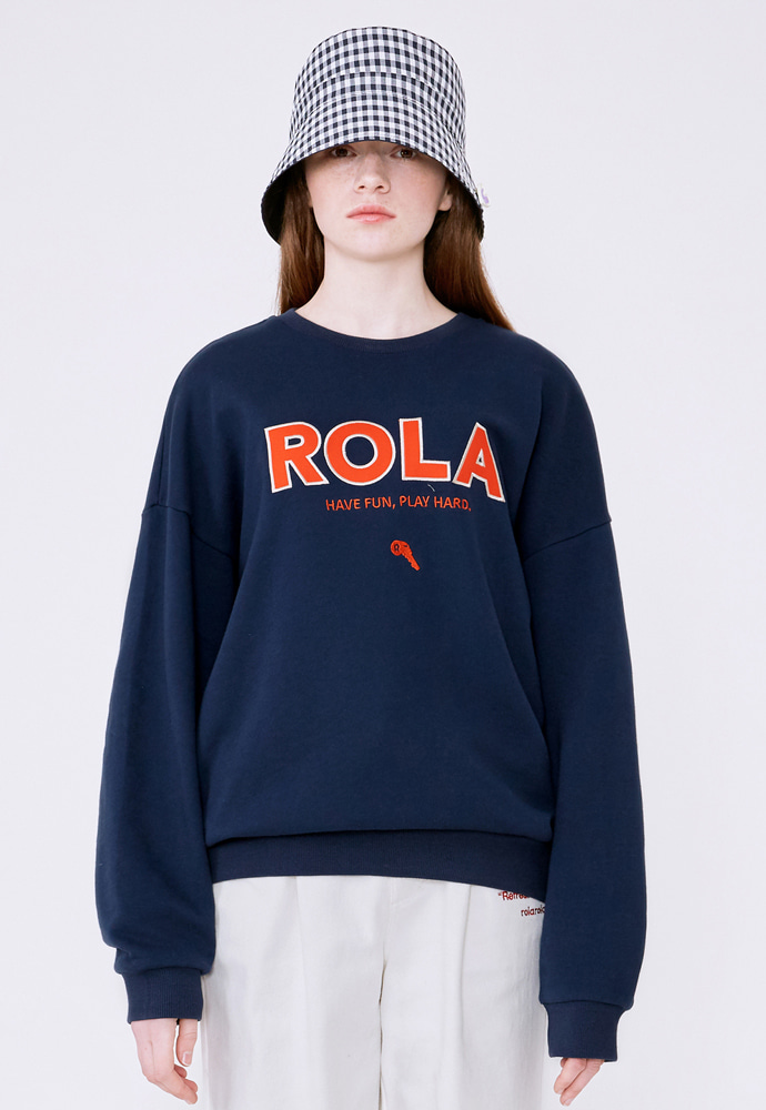 ROLAROLA로라로라 (TS-20102) ROLA SIGNATURE SWEATSHIRT NAVY