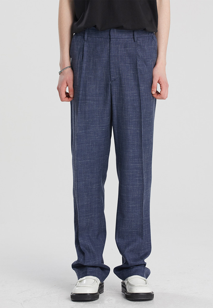 Haleine알렌느 NAVY wool semi wide fit slacks(LB005)**LIMITED EDITION**