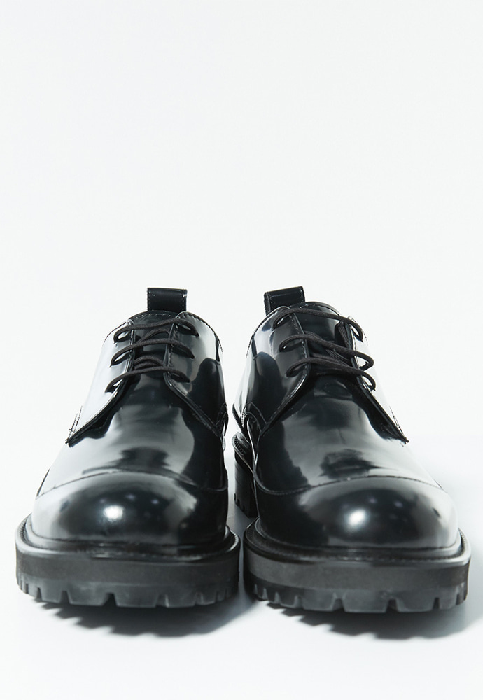 Haleine알렌느 BLACK leather chunky derby shoes(LH002)