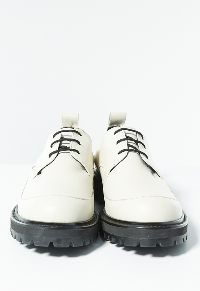 Haleine알렌느 CREAM leather chunky derby shoes(LH003)