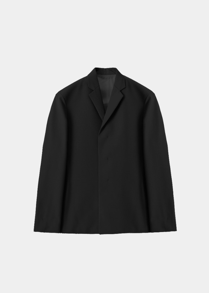 MIM THE WARDROBE밈더워드로브 ANDER Wool 3-Button Jacket_Black (Set-up)