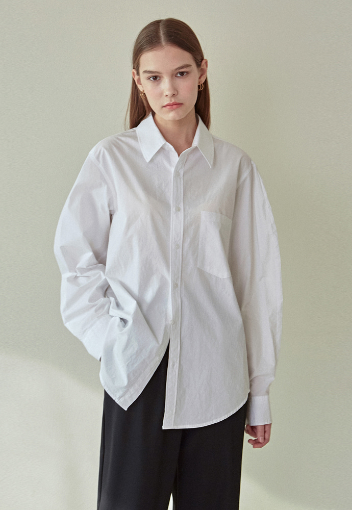 L'OEIL로에일 SIMPLE PUFF POINT SHIRTS_IVORY
