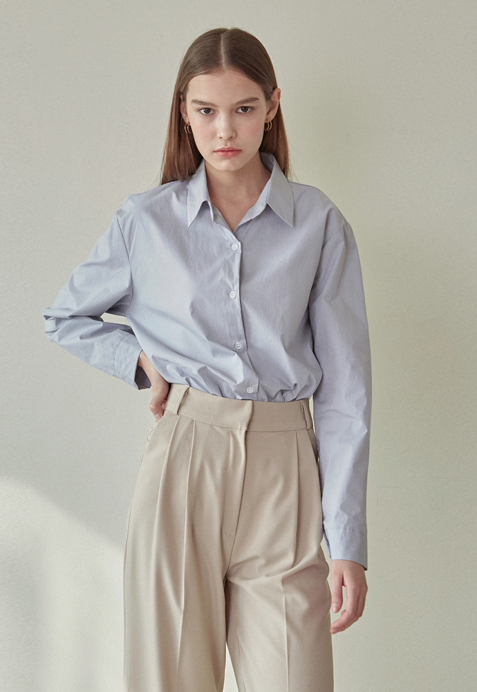 L'OEIL로에일 CLEAN LOOSE-FIT SHIRTS_SKY BLUE