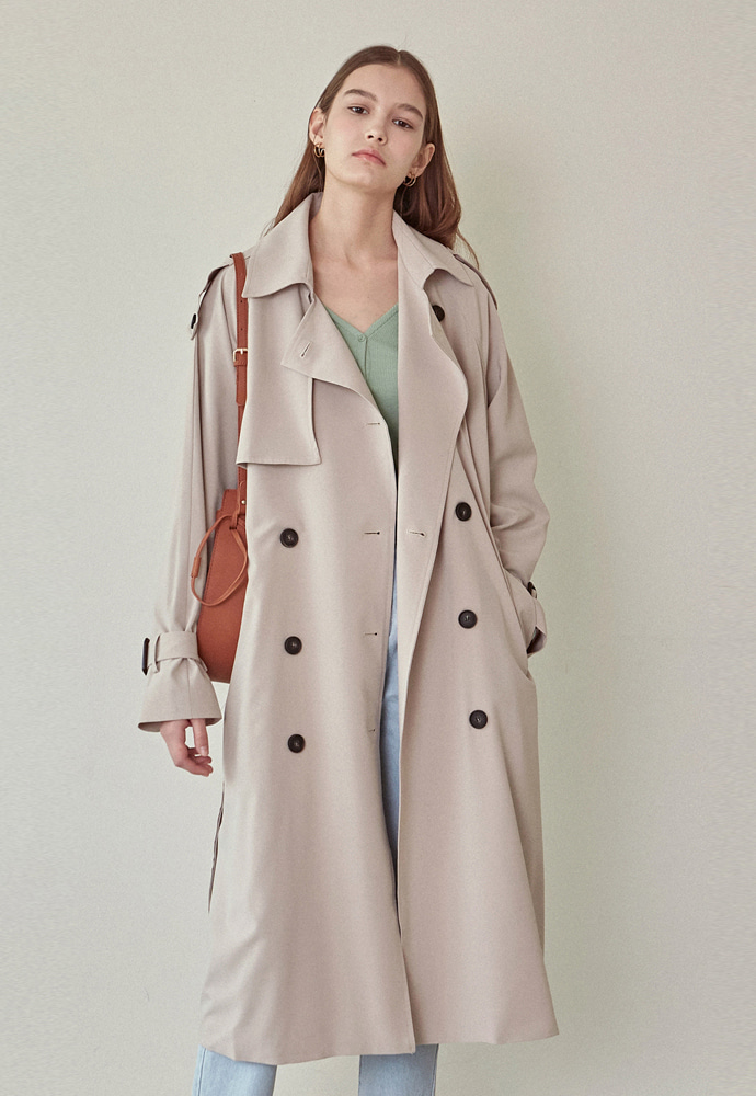 L'OEIL로에일 LOOSE-FIT DOUBLE TRENCH COAT_BEIGE