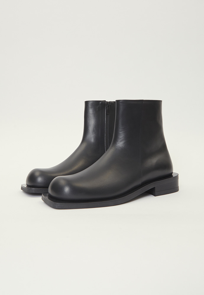 HANCE핸스 Square Toe Zip-up Boots
