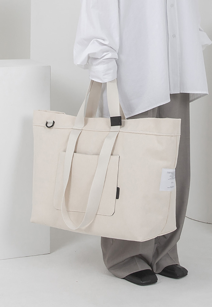 Ordinauty오디너티 INSIDE-OUT IVORY, (Tote x shoulder x cross)