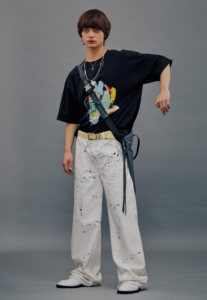Anderssonbell앤더슨벨 FILM ARCHIVE WIDE-LEG ARTWORK JEANS_WHTIE apa379m(White)