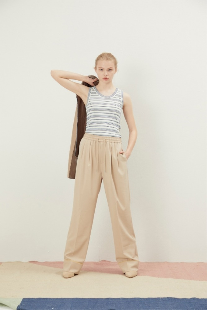 NOHANT노앙 PAJAMA WIDE PANTS BEIGE