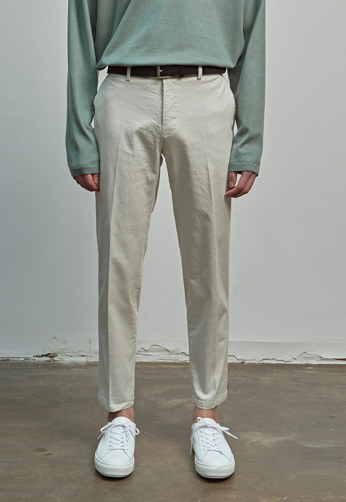 A.GLOWW에이글로우 COTTON RELAXED FIT PANTS_CREAM