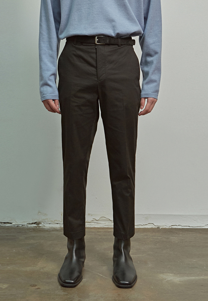 A.GLOWW에이글로우 COTTON SLIM FIT PANTS_BLACK