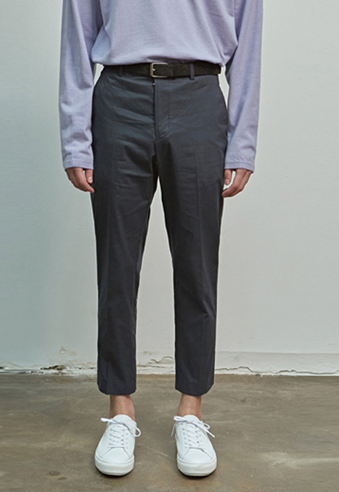 A.GLOWW에이글로우 COTTON SLIM FIT PANTS_NAVY