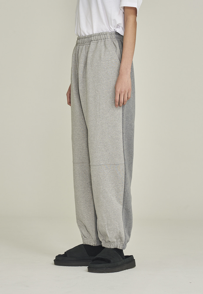 LLUD러드 LLUD sweat pants grey half/half