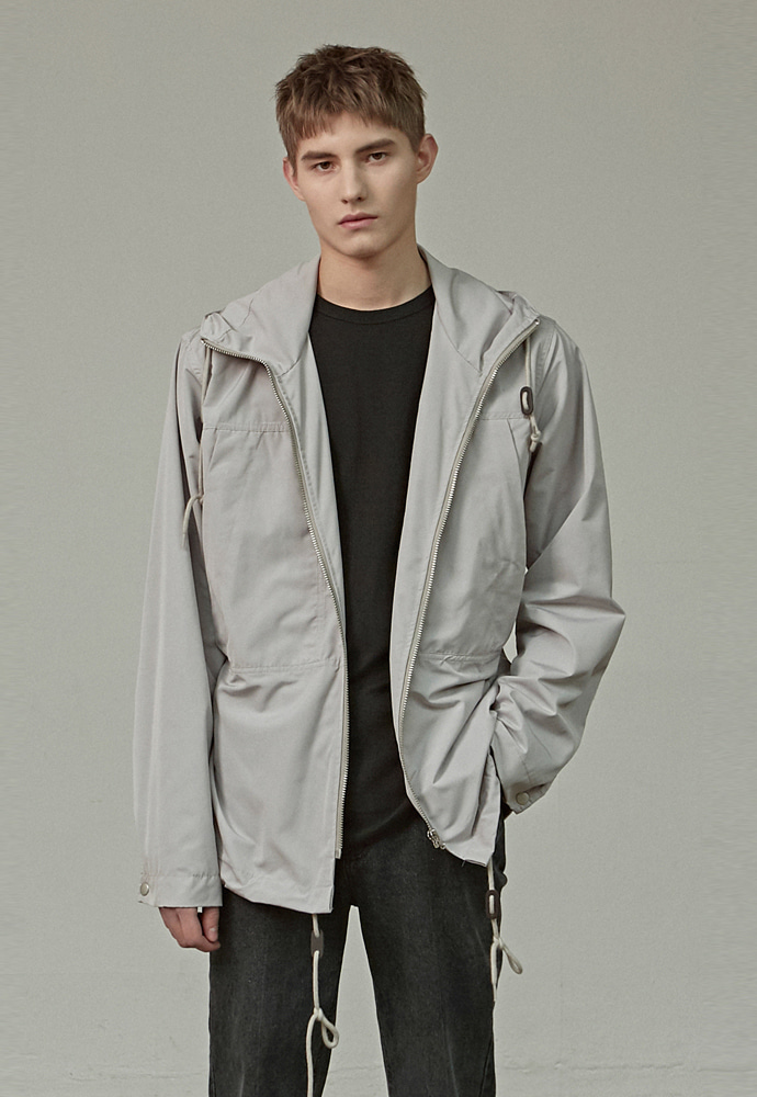 A.GLOWW에이글로우 HOOD WINDBREAKER JACKET_GRAY