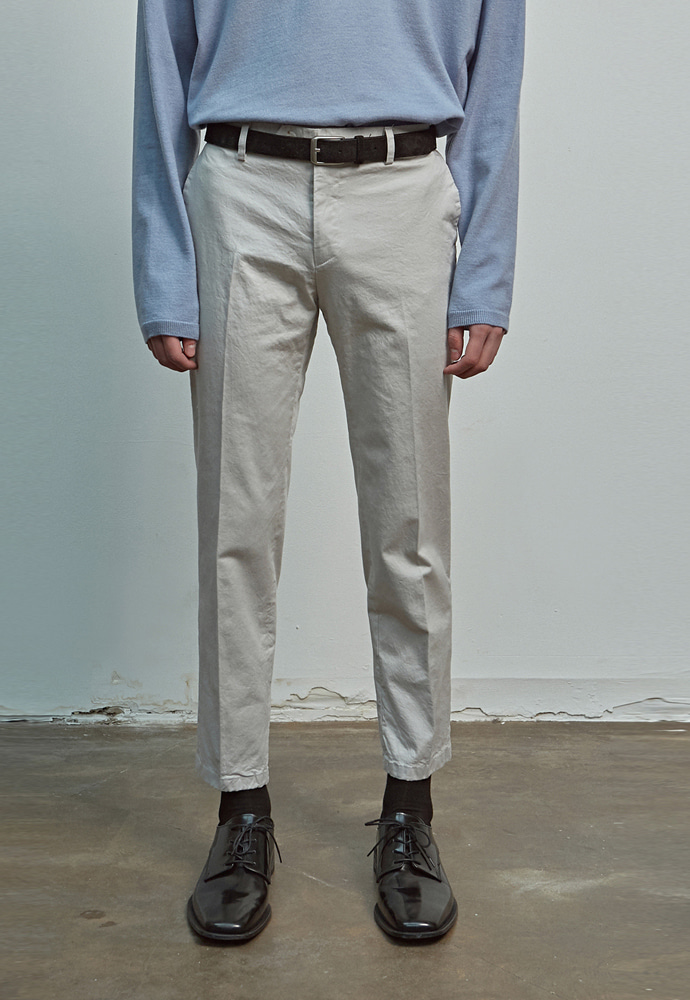 A.GLOWW에이글로우 COTTON RELAXED FIT PANTS_GRAY