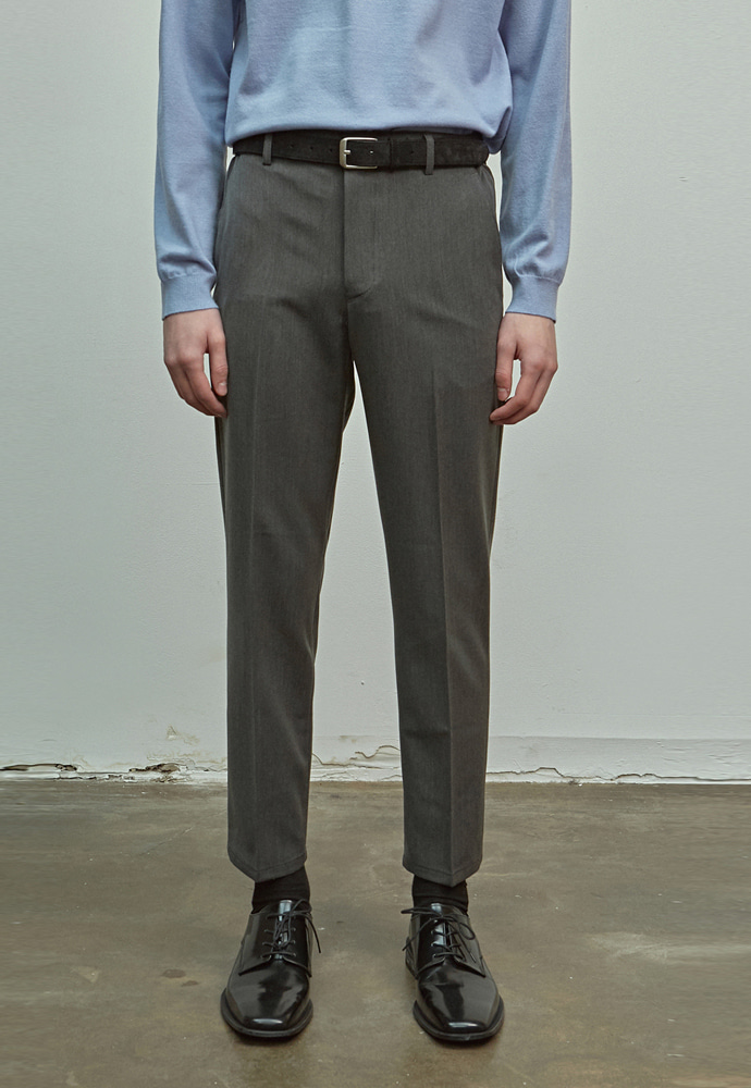 A.GLOWW에이글로우 SLIM FIT BANDING SLACKS_CHARCOAL