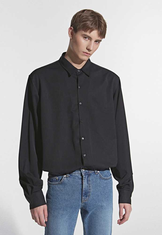 L'OEIL로에일 LOOSE FIT MINIMAL SHIRT_BLACK
