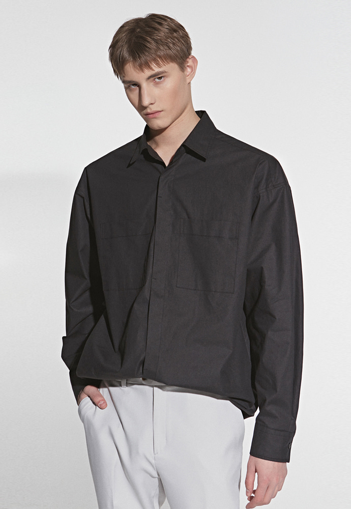 L'OEIL로에일 TWO POCKET POINT SHIRT_BLACK
