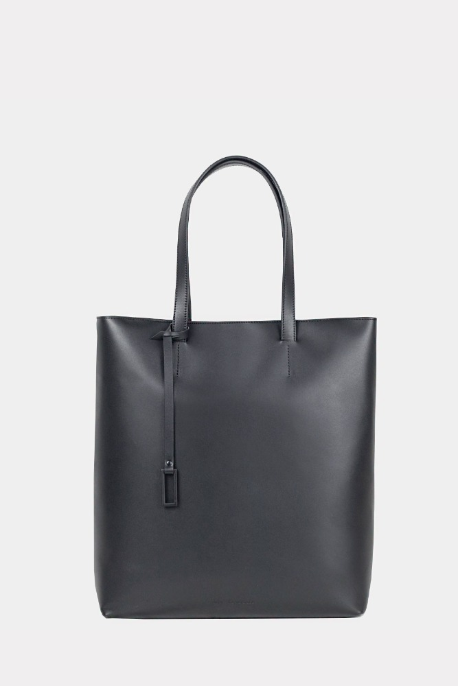 MIM THE WARDROBE밈더워드로브 Solid Leather Cross-Tote Bag