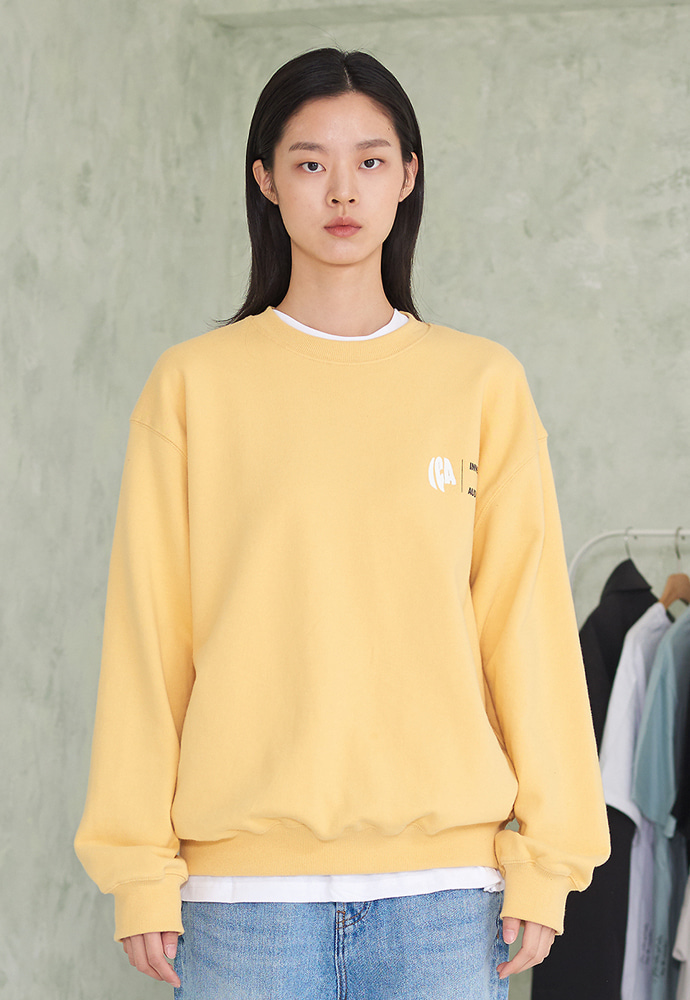 INNER CITY AUDIO이너시티오디오 ICA SLOGAN SWEATSHIRTS YELLOW