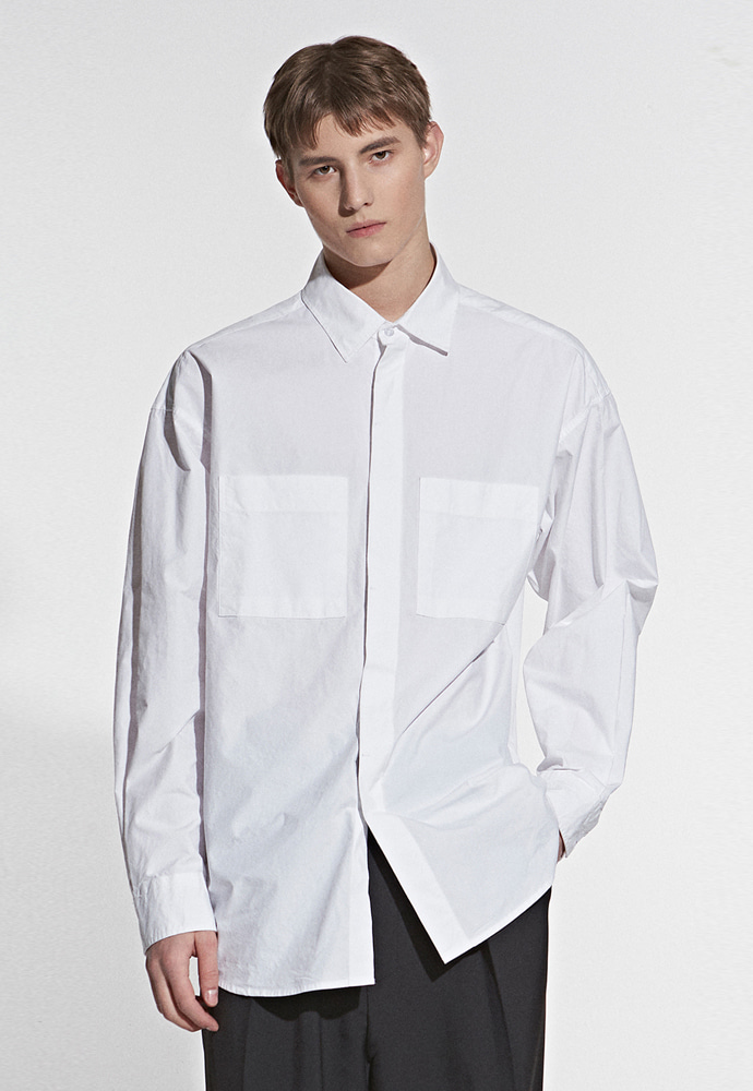 L'OEIL로에일 TWO POCKET POINT SHIRT_IVORY