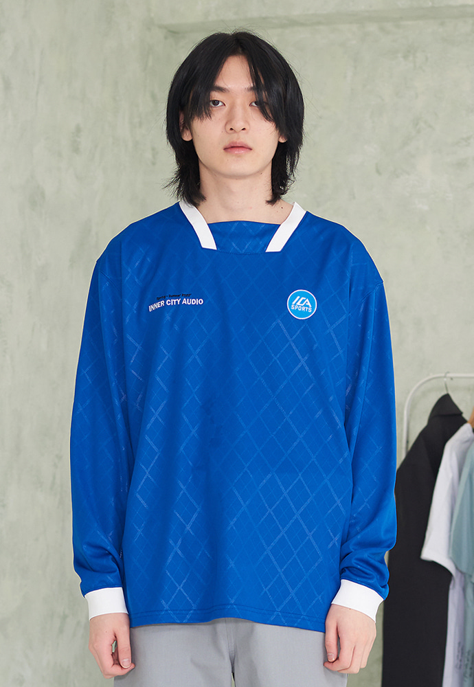 INNER CITY AUDIO이너시티오디오 FOOTBALL JERSEY LS BLUE