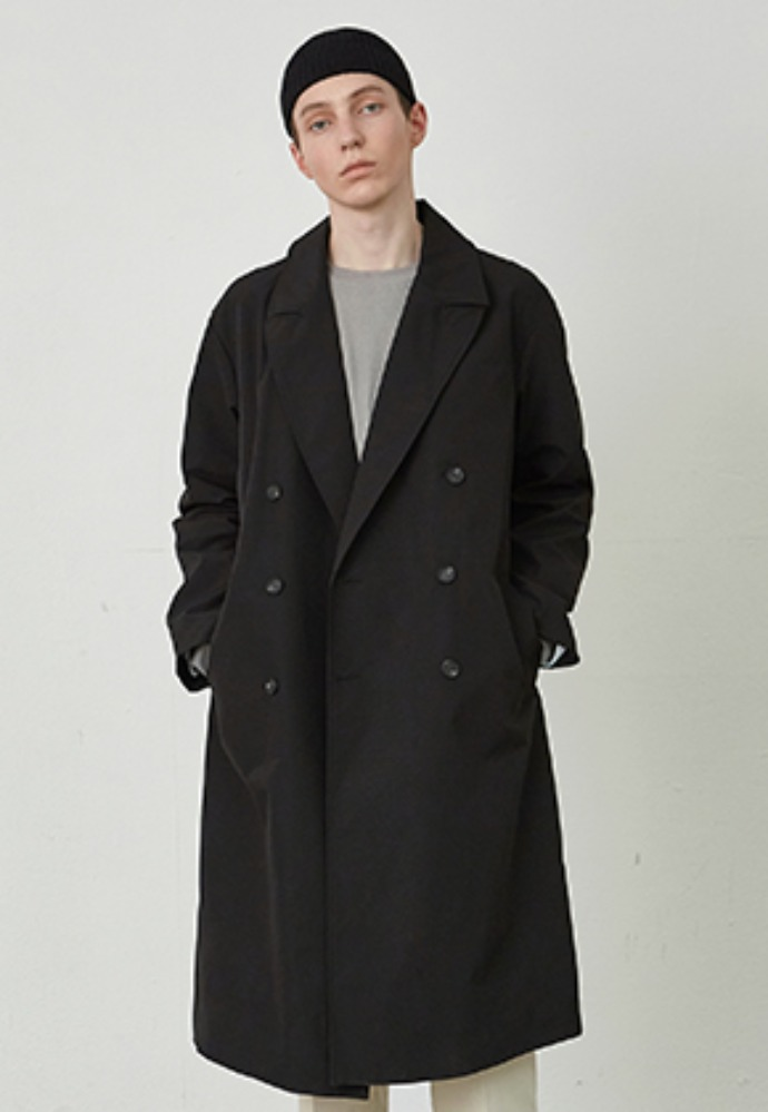 COUCOU코우코우 [COUCOU] FORMANT LONG DOUBLE COAT_BLACK