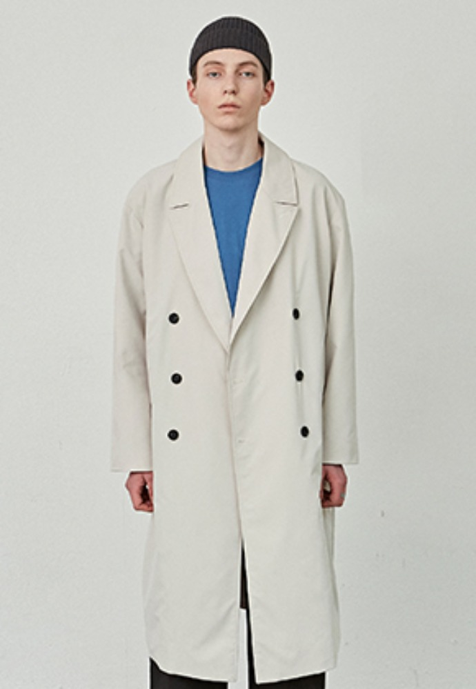 COUCOU코우코우 [COUCOU] FORMANT LONG DOUBLE COAT_CREAM